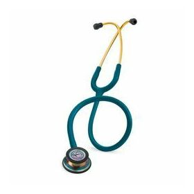 3M Littmann Classic III Stethoscope Caribbean Blue with Rainbow Chest Piece