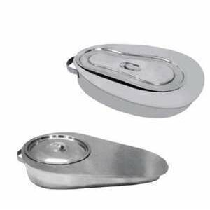 Bed Pan with cover S.S.